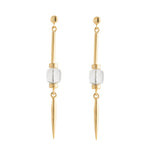 Cube Stud Earring Gold