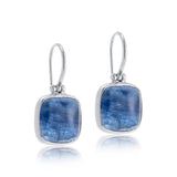 Cushion Earring, Kyanite, Silver