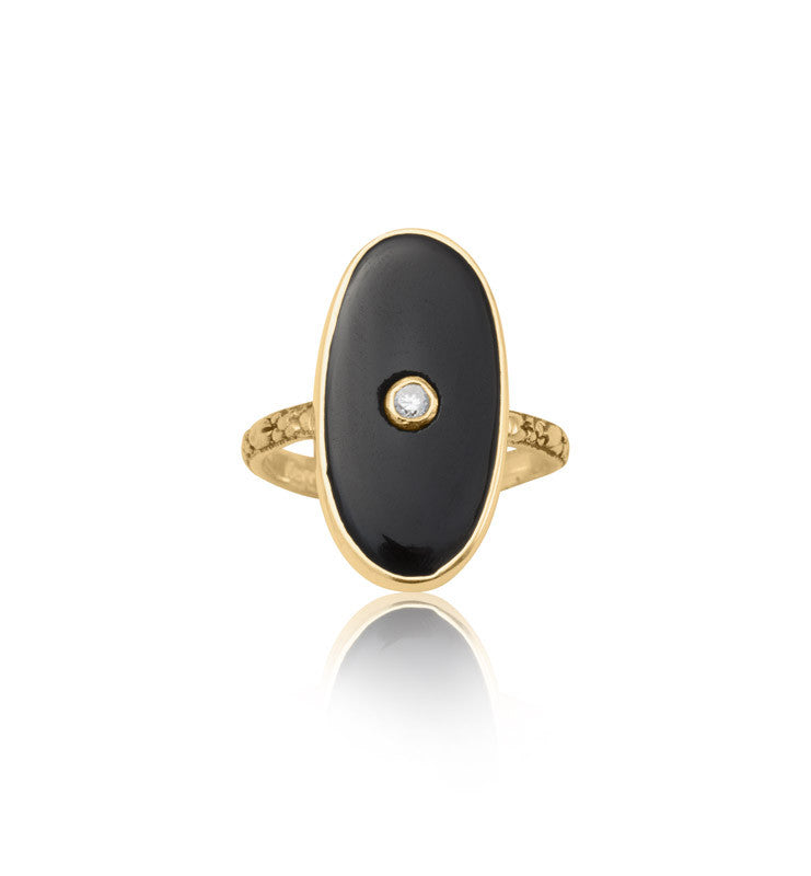 deco, ring, black, onyx, gold, kerry, rocks, jewellery