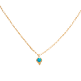 Delphi Necklace, Turquoise, Gold