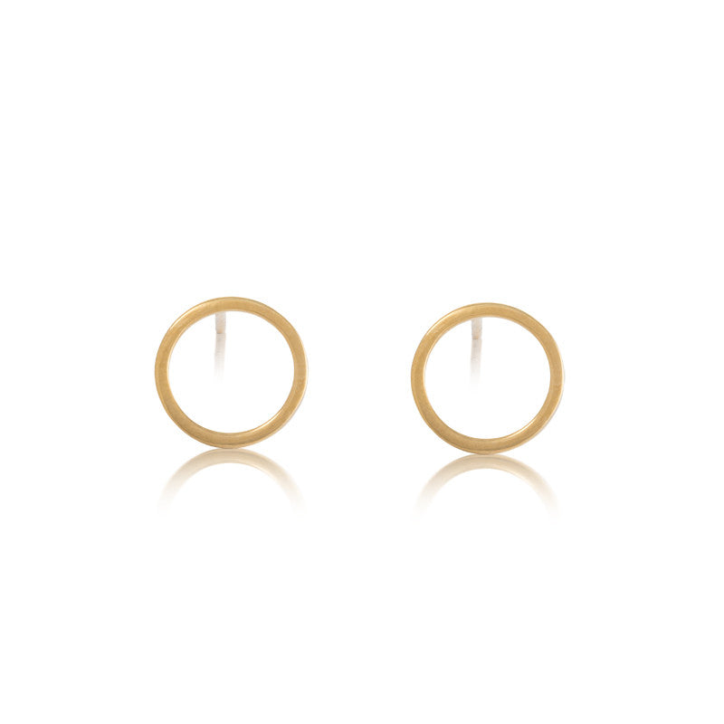 Eclipse Stud, 9kt Yellow Gold