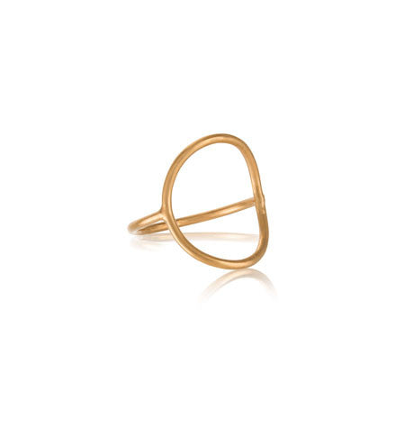 Ellipsis Ring, Gold