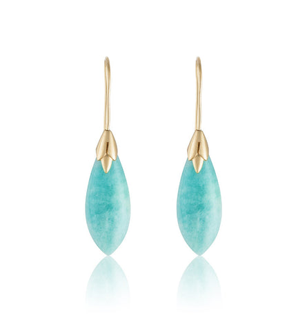 Empire Earring, Amazonite, Gold, Kerry, Rocks, Jewellery