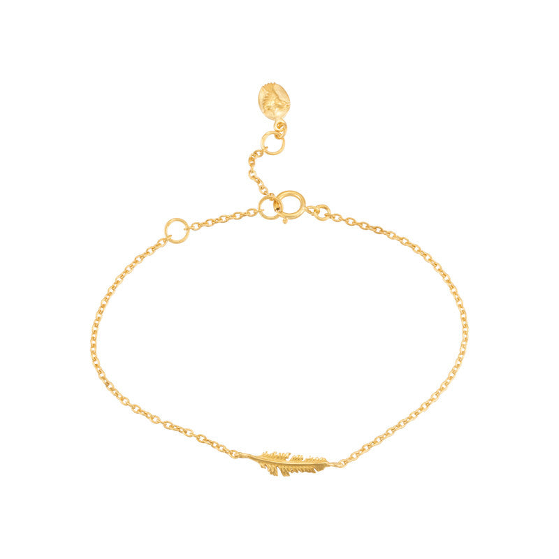 Feather Bracelet, Gold