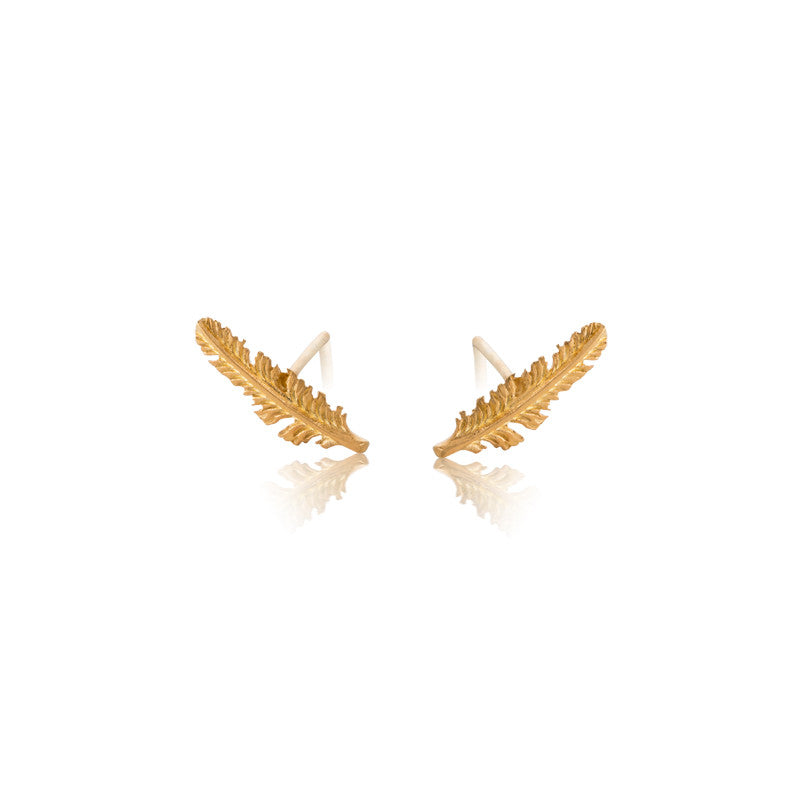 Feather Stud, Gold