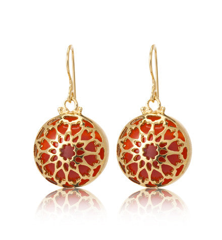 Red Onyx, Morrocan, Inspired, Earring, Gold, Kerry, Rocks,jewellery