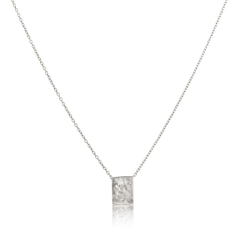 Fine Platelet Necklace, Silver