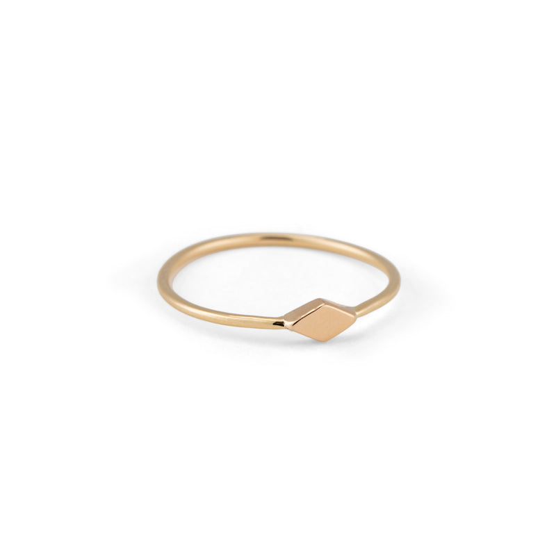 Rhombic Band, 9kt Yellow Gold