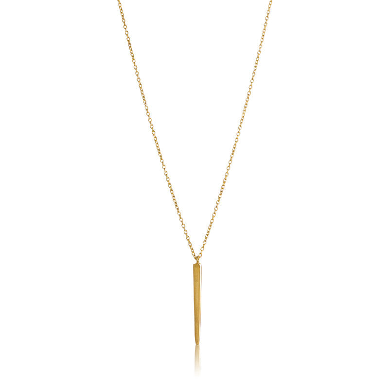 Fine Spear Necklace, Gold