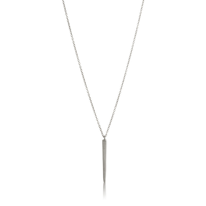 Fine Spear Necklace, Silver