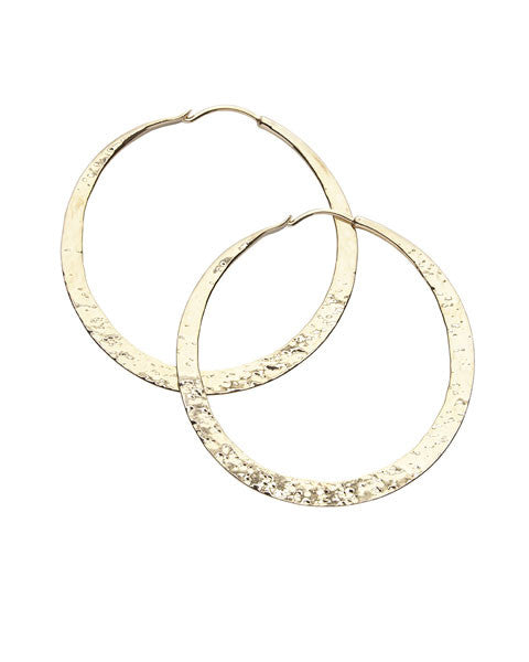 Forged Hoops Large, Gold
