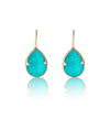 Gemma Earring, Amazonite, Gold