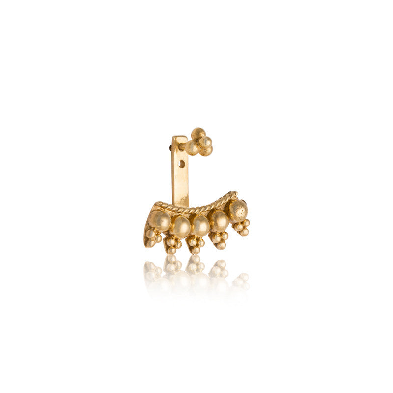Granule Ear Jacket, Gold