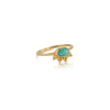 Granule Ring, Amazonite, Gold