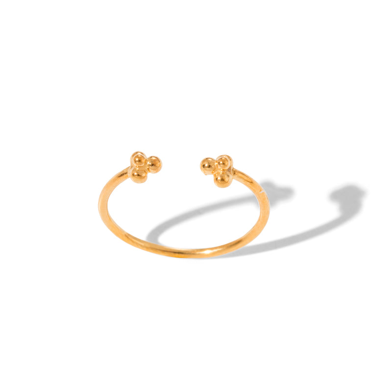 Granule Cuff Ring, 9kt Yellow Gold