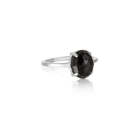Ophelia Ring, Black Onyx, Silver