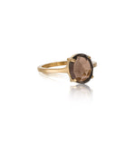 Ophelia Ring, Smokey Quartz, Gold
