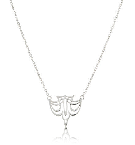Heron Necklace, Silver