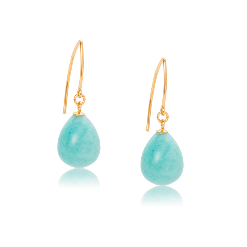 Imogen Earring, Amazonite, Gold