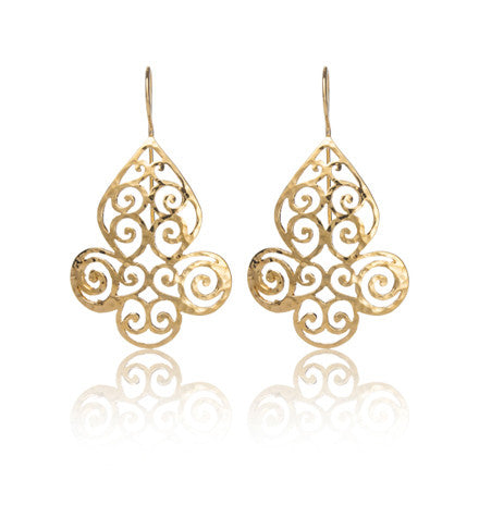 Filigree, Earring, Joya, Gold, Kerry, Rocks, Jewellery