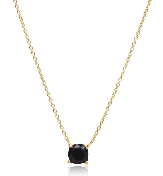 Kara Necklace, Black Onyx, Gold