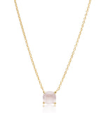 Kara Necklace, Rose Quartz, Gold