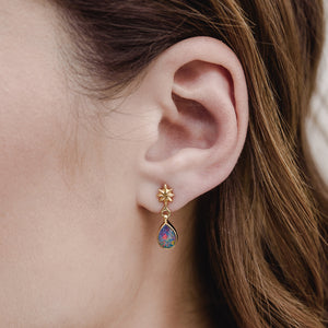 Starry Stud, Opal, Gold