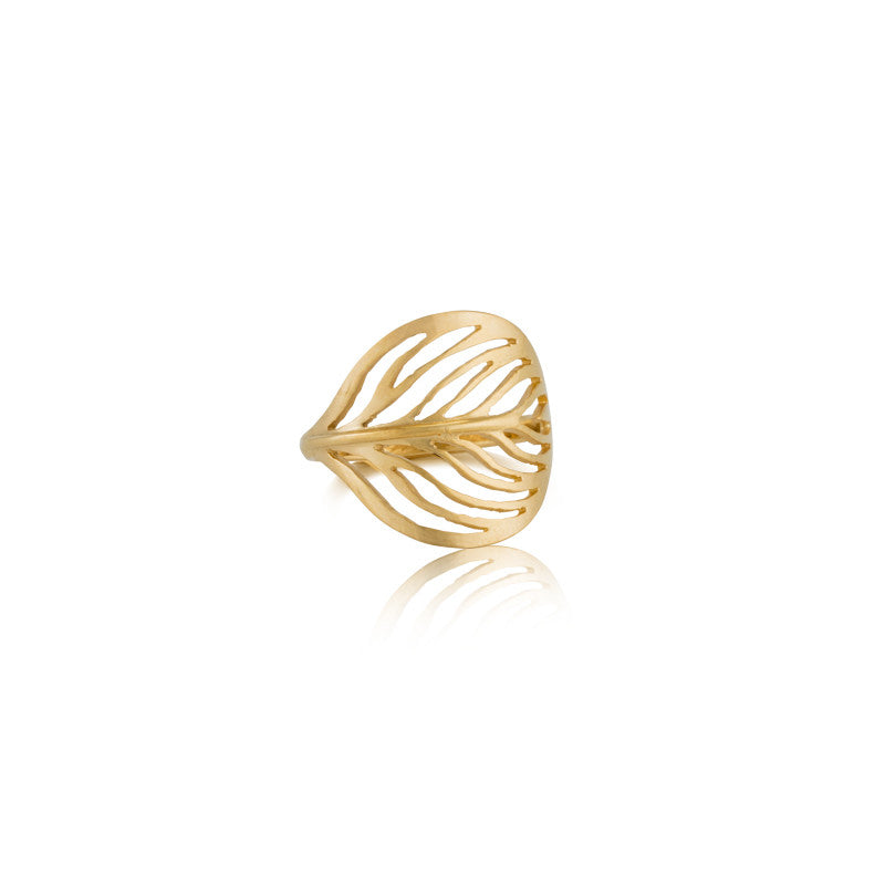 Leaf Ring, Gold