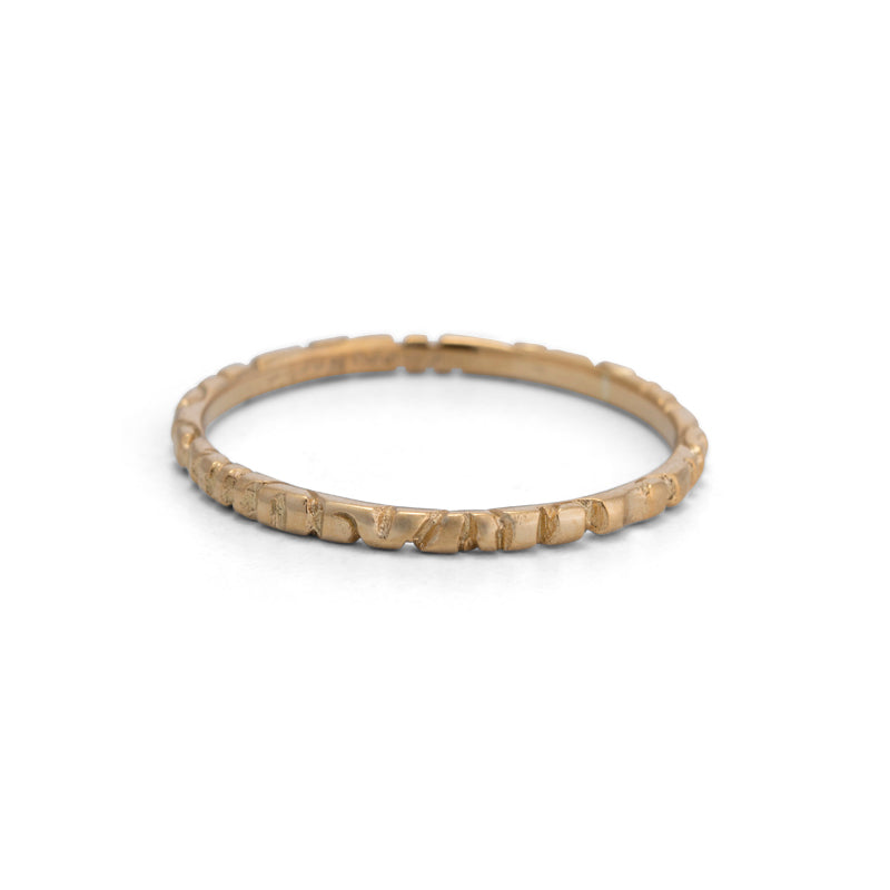 Linea Band, Thin, 9kt Yellow Gold