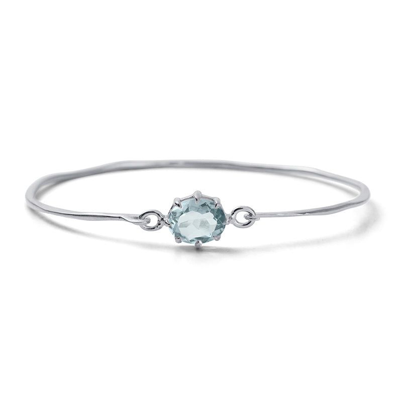 Marie Bangle, Blue Topaz, Silver
