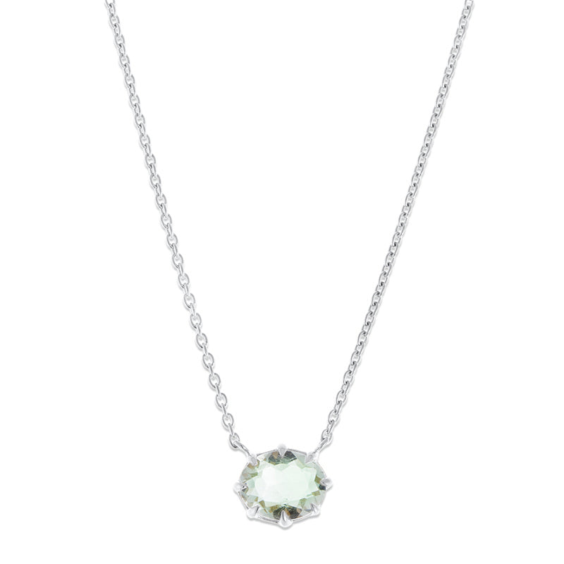 Marie Necklace, Prasiolite, Silver