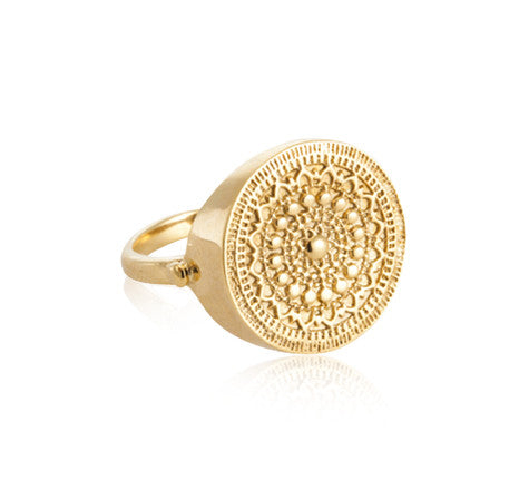 Medallion, Ring, Gold, Kerry, Rocks, Jewellery