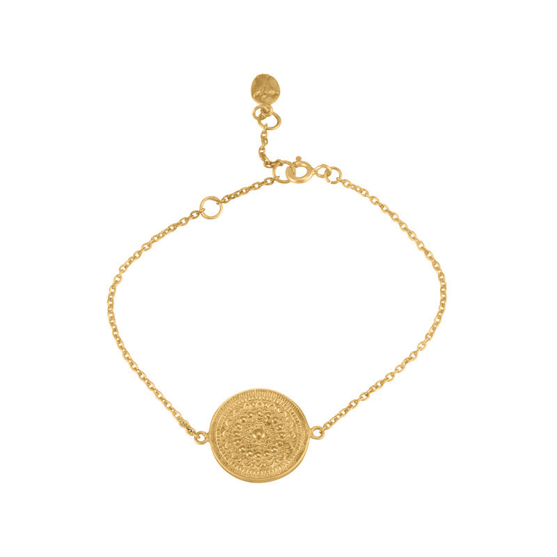 Medallion Bracelet, Gold
