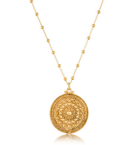 Medallion Pendant, Large, Gold, Kerry, Rocks, Jewellery