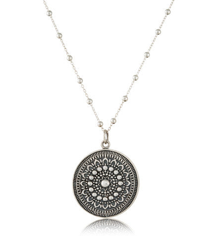 Medallion Pendant, Large, Silver, Kerry, Rocks, Jewellery