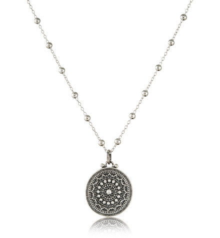 Medallion Pendant, Small, Silver