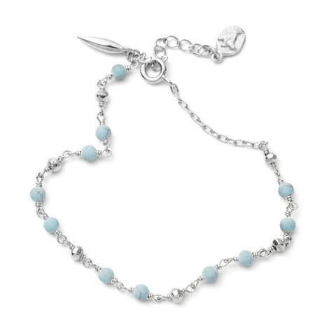 Mercy Bracelet, Turquoise, Silver