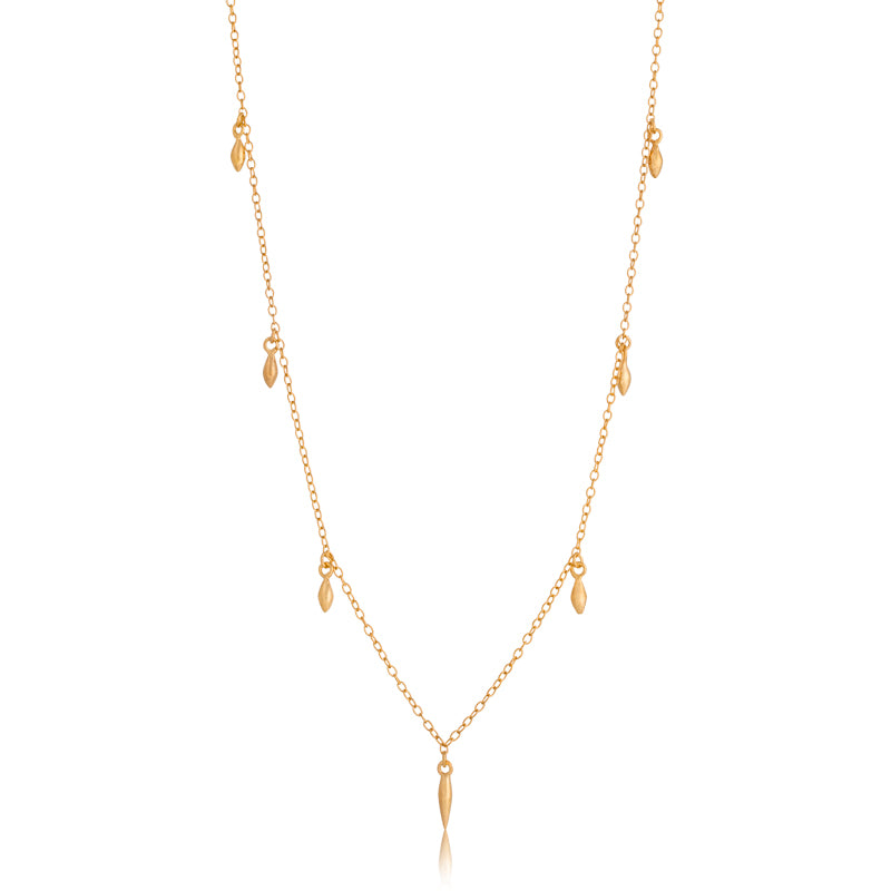 Mercy Necklace, Short, Gold