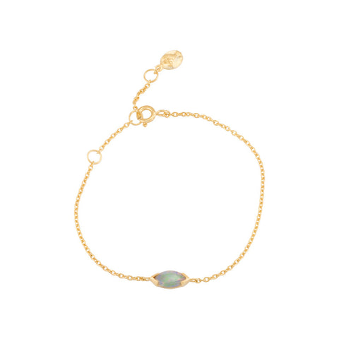 Opal Marquise Bracelet, Gold