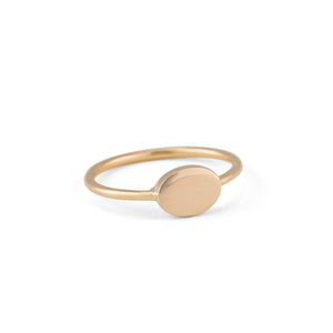 Fine Oval Band, 9kt Yellow Gold