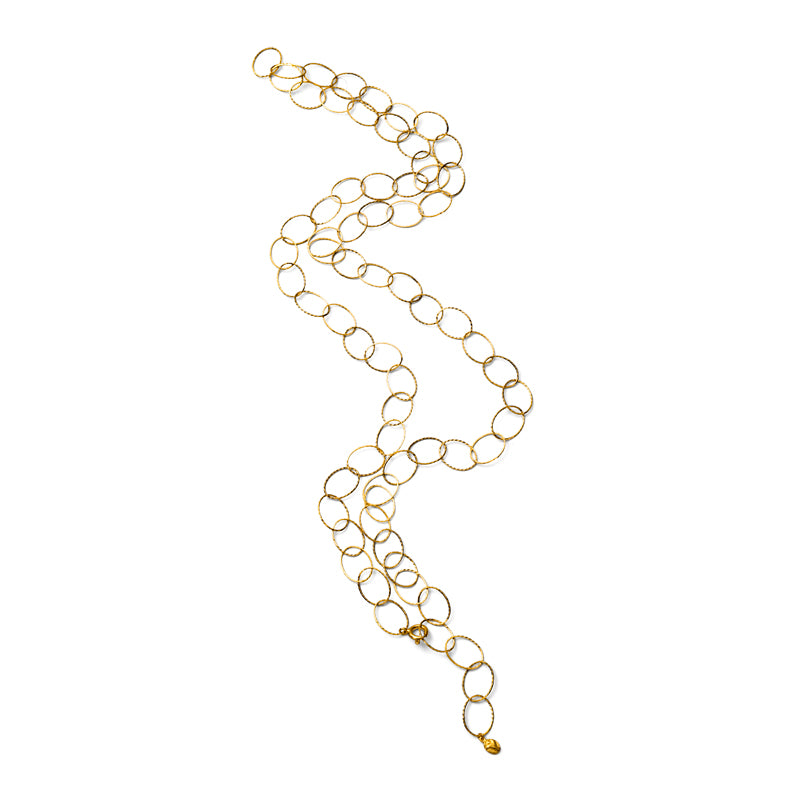 Oval Link Chain, Gold