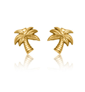 Palm, Tree, Studs, Jewellery, Gold, Kerry, Rocks