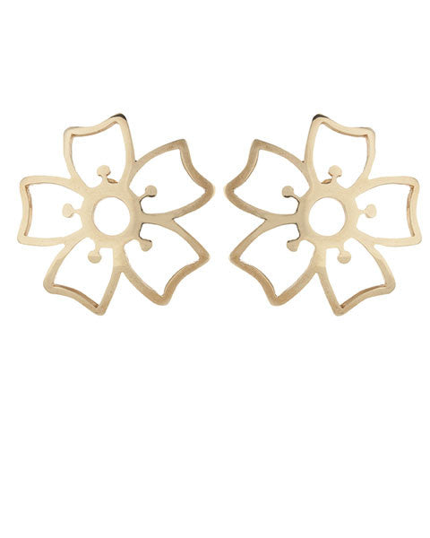 Pansy Stud Large, Gold