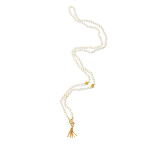 Malla Pearl Necklace, Gold