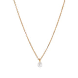 Pearl on Chain Necklace, Gold