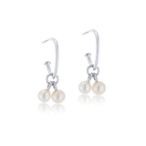 Pearl Duo Hoops, Silver