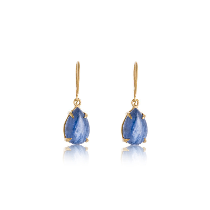 Petal Earring, Kyanite, Gold