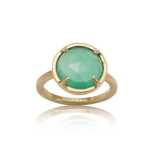 Phoebe, Ring, Green, Onyx, Gold, Kerry, Rocks, Jewellery