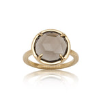 Phoebe Ring, Smokey Quartz, Gold
