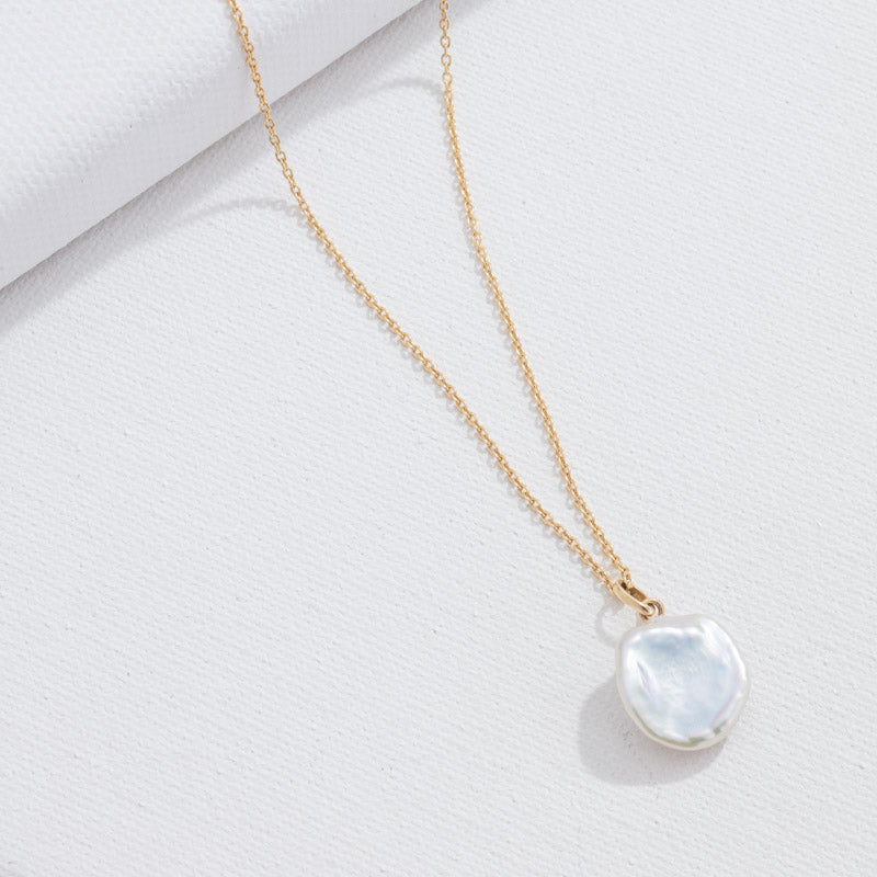 Keshi Pearl Necklace, 9kt Yellow Gold